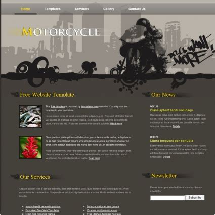 motor cycle free website templates in css html js format
