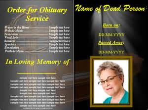 Free Obituary Program Template by Funeral Obituary Template 22 Free Word Excel Pdf Psd