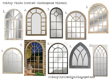 Arch Windows Decor Whimsy Friday Finds Arch Windowpane Mirrors