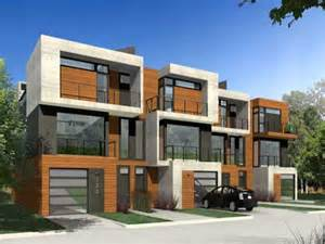 duplex house plans narrow new designs floor modern