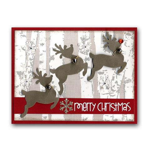 reindeer cards to make punched velvet reindeer card make this in our