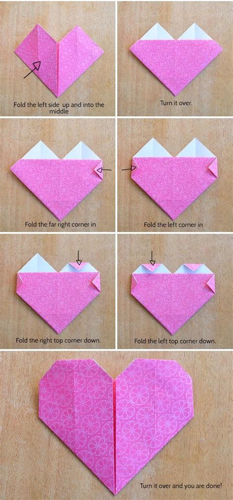 how to make small origami hearts make an origami kidspot