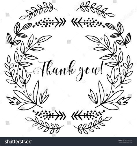 Thank You Letter Graphic Design Thank You Card Lettering Textsummer Pattern Stock Vector