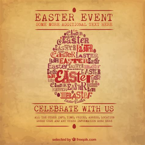 posters for easter easter egg poster vector free