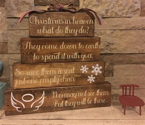 christmas in heaven craft in heaven handmade wood decor https m avary custom creations