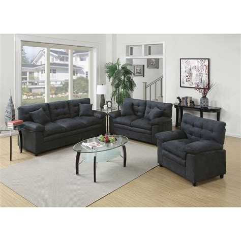 Poundex Bobkona Colona 3 Piece Living Room Set Reviews Living Room L Sets