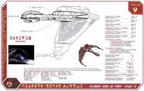 Starship Floor Plan by Star Trek Blueprints Klingon Bird Of Prey