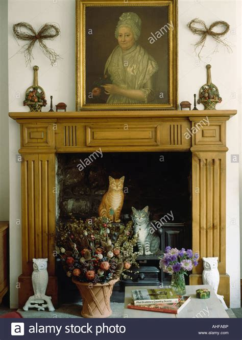 picture above fireplace picture above fireplace with dried flower arrangement and