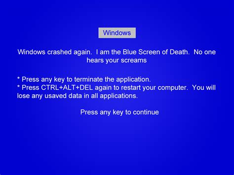 blue joke blue screen of