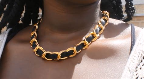 Chanel Cushman Copycat Bracelet Now Available At Chanel Boutiques by Diy Chanel Inspired Necklace 183 How To Make A Chain