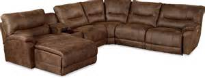 casual six reclining sectional sofa with las chaise