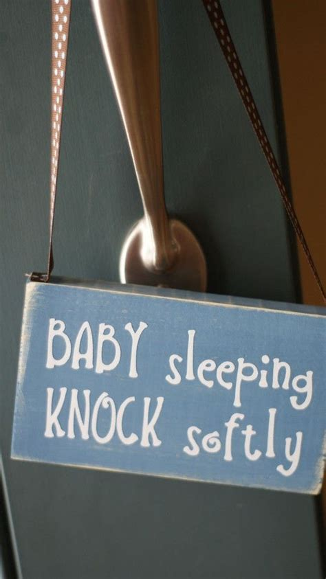 Baby Sleeping Sign For Front Door Baby Sleeping Do Not Disturb Wood Sign Door Hanger Gifts For Better Sleep
