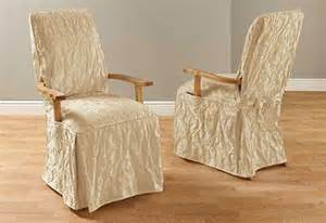 Dining Arm Chair Covers Sure Fit Matelasse Damask Arm Dining Chair Cover