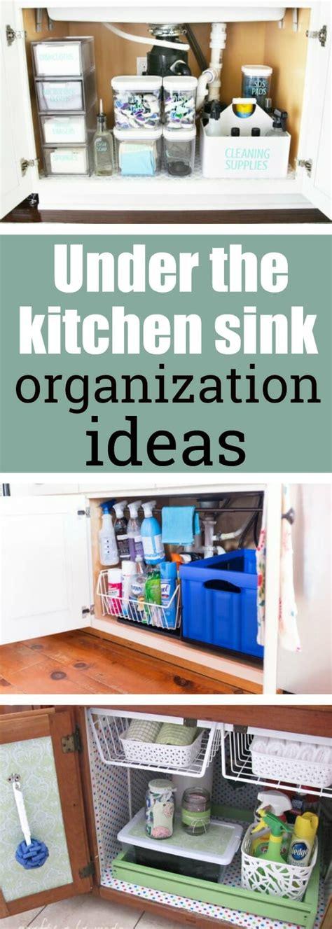 the kitchen sink organization ideas my style