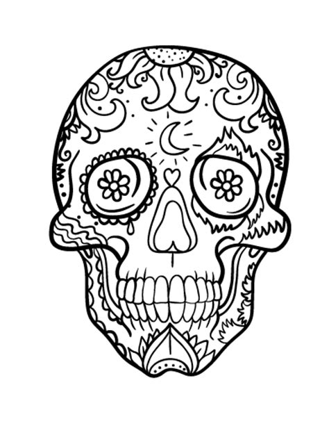 day of the dead skull coloring pages free day of the dead skull coloring page