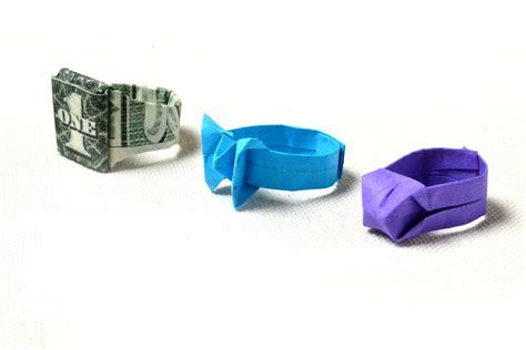 How To Make A Paper Ring - 3 ways to make a ring out of paper wikihow