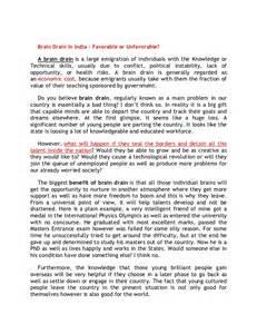 Brain Drain In India Essay by Brain Drain Essay Essay On Brain Drain In India Essay About The Brain Essay On Brain Drain