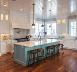 kitchens with different colored islands white kitchen with a contrasting island adds a pop of