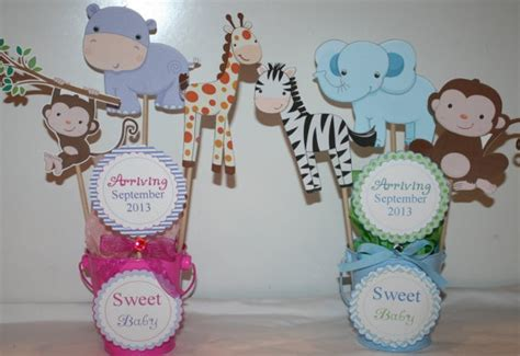 Handmade Baby Shower Centerpieces - adorable animal baby shower centerpieces handmade