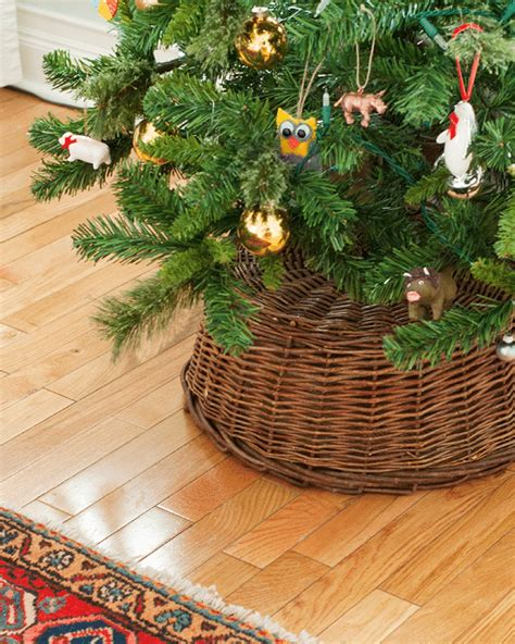 where to put a christmas tree with a fireplace a simple tree skirt alternative yellow brick home