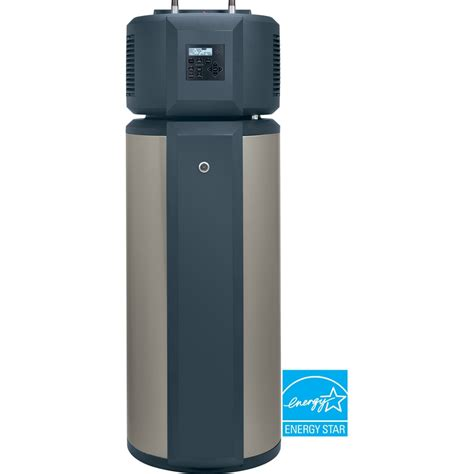 heat pump water heater lowes shop ge geospring 50 gallon 10 year hybrid electric heat