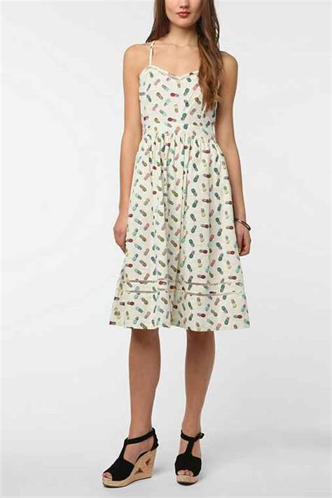 Outfitters Picnic Shirt Dresses by Cooperative Cotton Picnic Midi Dress