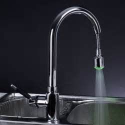 chrome led pull out kitchen faucet modern kitchen