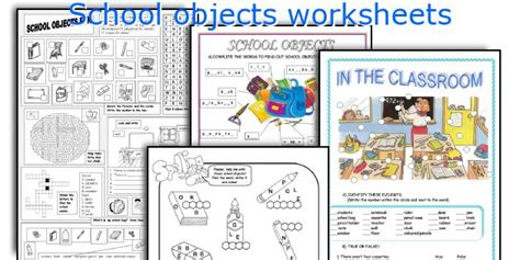 school objects matching b w worksheets kola pinterest all worksheets 187 classroom objects worksheets pdf free