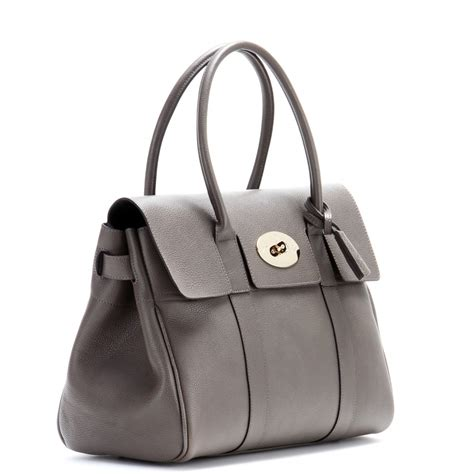 Tribute To A Timeless Classic Mulberrys Leather Bayswater Bag by Mulberry Bayswater Small Leather Tote In Gray Lyst