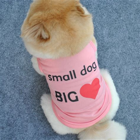 cute dog products 2016 small dog shirt cute love clothesdog vest pet