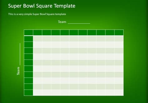 simple football squares template