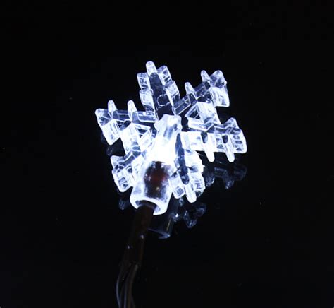 battery operated led snowflake string lights lighting