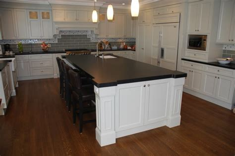 absolute black honed granite kitchen contemporary with honed cambrian black granite mitered contemporary