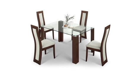 gloss dining table with glass top and 4 chairs blue