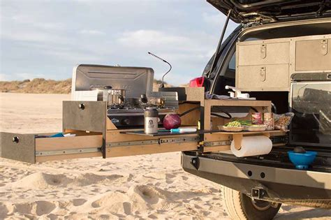 slide out kitchen cabinets slide out truck kitchen for overland vehicles