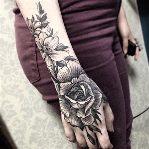 best 25 rose hand tattoo ideas only on pinterest hand