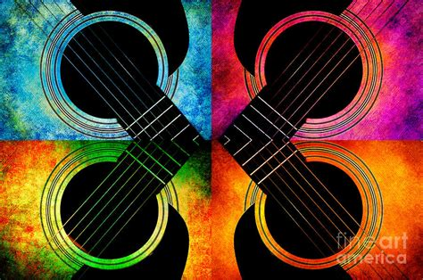Home Design And Decor App 4 Seasons Guitars Abstract Photograph By Andee Design