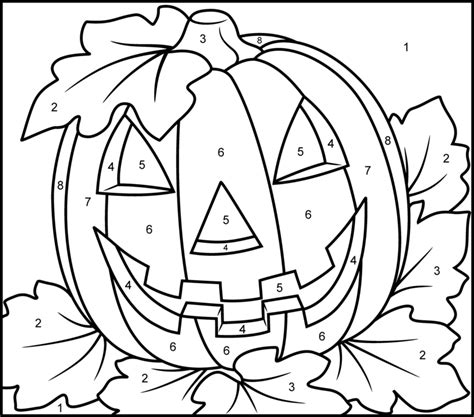 pumpkin coloring pages pinterest halloween pumpkin printable color by number page home