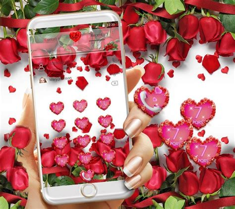 love rose themes com red rose theme wallpaper red roses lock screen android