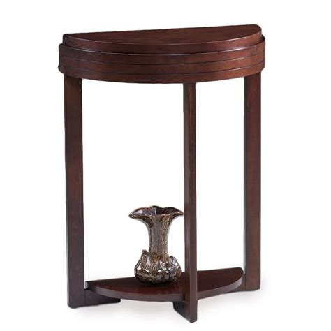 demilune accent table leick favorite finds demilune accent table in chocolate cherry 10110 ch