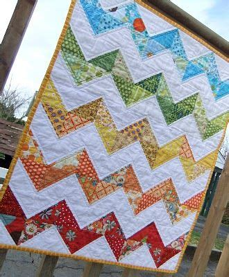rainbow zig zag quilt pattern zig zag rainbow quilt on making more with less quilting