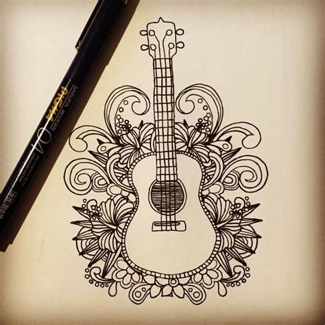 drawing design ideas 25 best ideas about guitar drawing on pinterest music