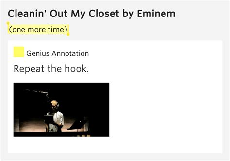 one more time cleanin out closet by eminem