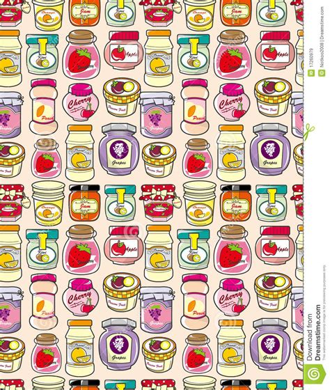 pattern jam plus seamless jam pattern stock vector image of apples