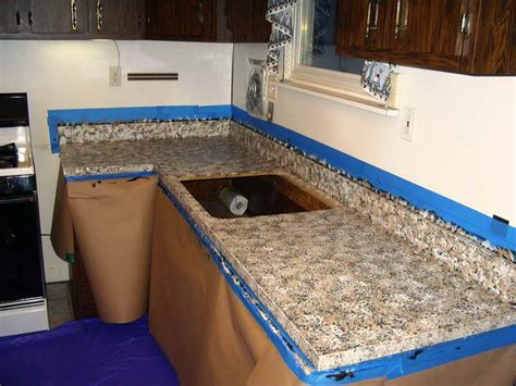Installing Granite Countertop by Kitchen Ideas For Installing Faux Granite Countertops