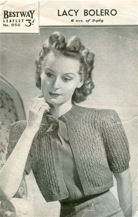 1940s knitting patterns vintage bolero knitting patterns available from the