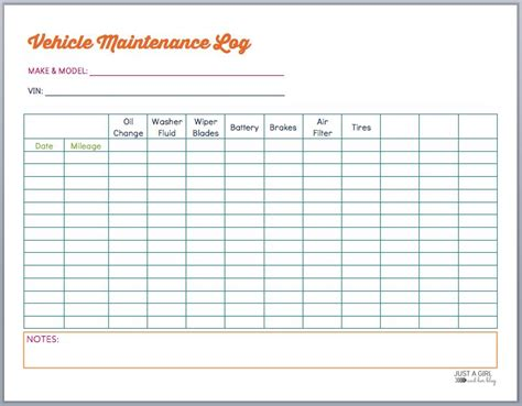Car Maintenance Log Beneficialholdings Info Fleet Vehicle Maintenance Log Template