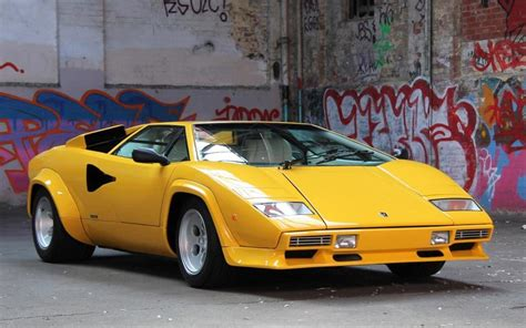 yellow lamborghini countach lamborghini countach driven as pretty as the picture