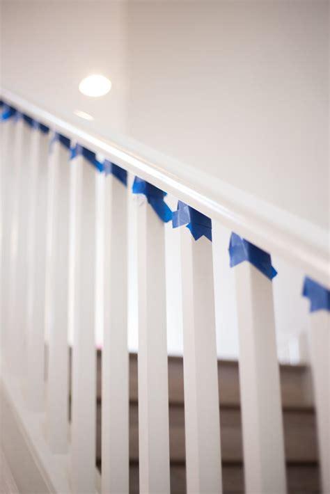 paint  stair rails black  destiny