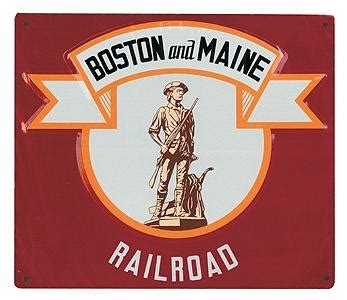 Boston Micro Gr embossed die cut metal sign boston maine model